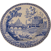 SALE Collectible Blue & White Plate, ROME