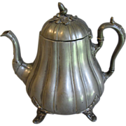 REDUCED 19th Century Pewter Teapot, H.M. Broadmead & Co.