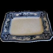 Small Rectangular Flow Blue Platter, VERONA