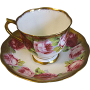SALE Gorgeous Royal Albert Crown China Cup & Saucer, ROSES