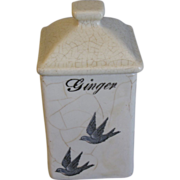 Highly Sought Bluebird Spice Jar (Canister) GINGER