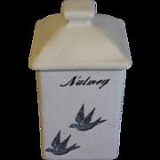 SALE Highly Collectible Bluebird Spice Jar (Canister) NUTMEG