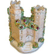 SALE Antique Staffordshire Figure, Castle with Two Turreted Towers