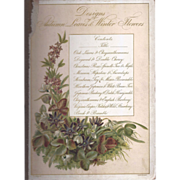 SALE Cover Page From Victorian Photograph Album Autumn Leaves
