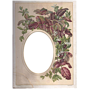 SOLD Colorful Page from Victorian Photograph Album