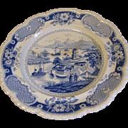SOLD C. 1814-30 John & William Ridgway INDIA TEMPLE Plate