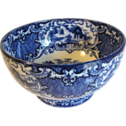 Lovely Flow Blue Round Bowl, ABBEY, George Jones