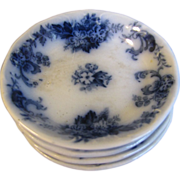 SALE Flow Blue Butter Pat, ELSIE, New Wharf Pottery