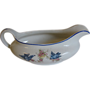 Vintage Illinois China Company Bluebird Gravy Boat