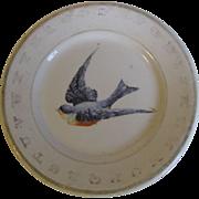 SALE Vintage ABC Bluebird Child's Plate Hotel