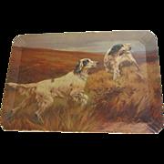 SALE Vintage Coronet Haskelite Tray, Hunting Dogs