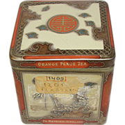 SALE Vintage Oriental Design Tea Tin, Niemeyer's Holland