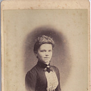 SALE Cabinet Photograph of a Young Woman