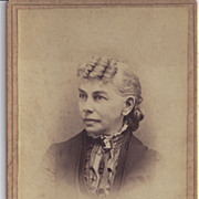 SALE Cabinet Photograph of Woman, Unusual Hairstyle