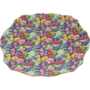SALE Lovely Royal Winton Chintz Plate, JULIA