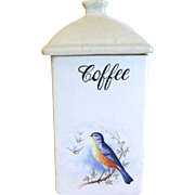 Vintage Bluebird Coffee Canister, A. E. Hull, 1920's