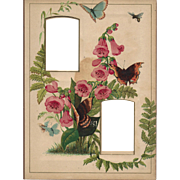 SOLD Gorgeous Chromolithograph Page from Victorian Photograph Album