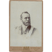 SALE Cabinet Card, Young Man with Beard and Glasses Toronto