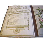 SOLD Lovely Victorian Photograph Album, Leather Cover, Floral Illuminations