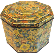 REDUCED Vintage British Biscuit Tin, Huntley & Palmers, Floral Chintz Design