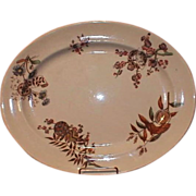 SALE 19th Century Aesthetic Brown Transferware Platter, Furnival