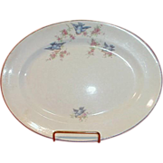 Bluebird China Platter, The Potters Co-operative Company 1920-25