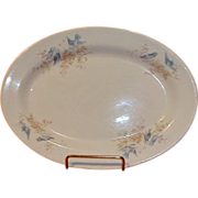 Lovely Bluebird China Platter, Bluebirds in Apple Blossoms, K.T.&K.