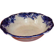 SALE Lovely (As Is) Flow Blue Bowl, Unmarked and Unidentified