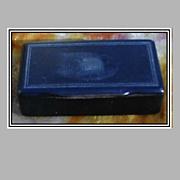 REDUCED Antique Black Papier (Paper) Mache Snuff Box