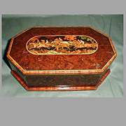 SALE Gorgeous Huntley & Palmers Biscuit Tin, Marquetry Horse Race