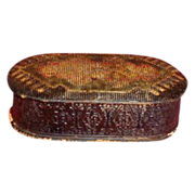 SALE Most Unusual Papier Mache Trinket Box