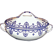 SALE Lovely Blue Printed Sauce Tureen w/Lid Wedgwood DIANA