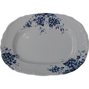 SALE Lovely Blue Transfer Printed Platter, DORIC, J.M.&S.