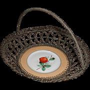 Wonderful Wireware Basket with Porcelain Plate Insert