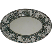 Lovely Large Oval Black Transferware Platter, MIKADO, English