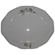 Gorgeous Bluebird China Meat Platter, ca 1920, Salem China