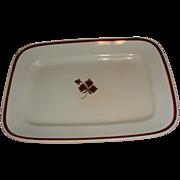 SALE 19th Century White Ironstone Tea Leaf Platter Wilkinson