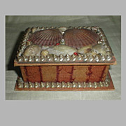 SALE Lovely Victorian Sea Shell Box