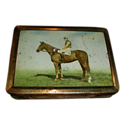 SALE Great Vintage Huntley & Palmers Biscuit Tin Box, Early Mist