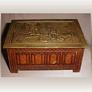 British Biscuit Tin, 1929, Jacobean Log Box, Jacob & Co. (2 avail)