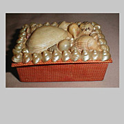 SALE Lovely Small Victorian Shell Trinket Box