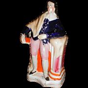 19th Century Staffordshire Figure, John Milton