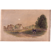 SALE Authentic 1842 Color Print by George Baxter