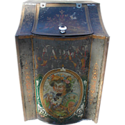 REDUCED Lovely Large Store Counter Tea Bin, Oriental Tole