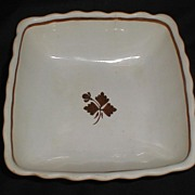 SALE Alfred Meakin Square White Ironstone Bowl, Tea Leaf