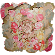 REDUCED Lovely 3-Dimensional Victorian Valentine Card, Die-Cut