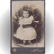 SALE Charming Cabinet Photograph of a Baby Girl (Toddler)