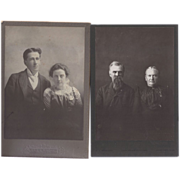 SALE Pair of Cabinet Photographs, Couples
