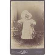 SALE Victorian Cabinet Photograph Card, Young Girl