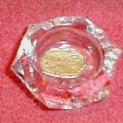 Hexagon Glass Salt Dip (Open Salt) Bohemia Glass